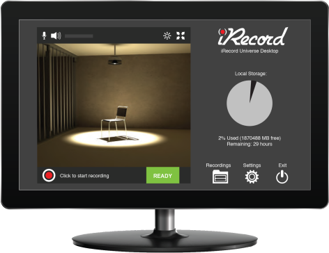 screenshot of the iRecord software