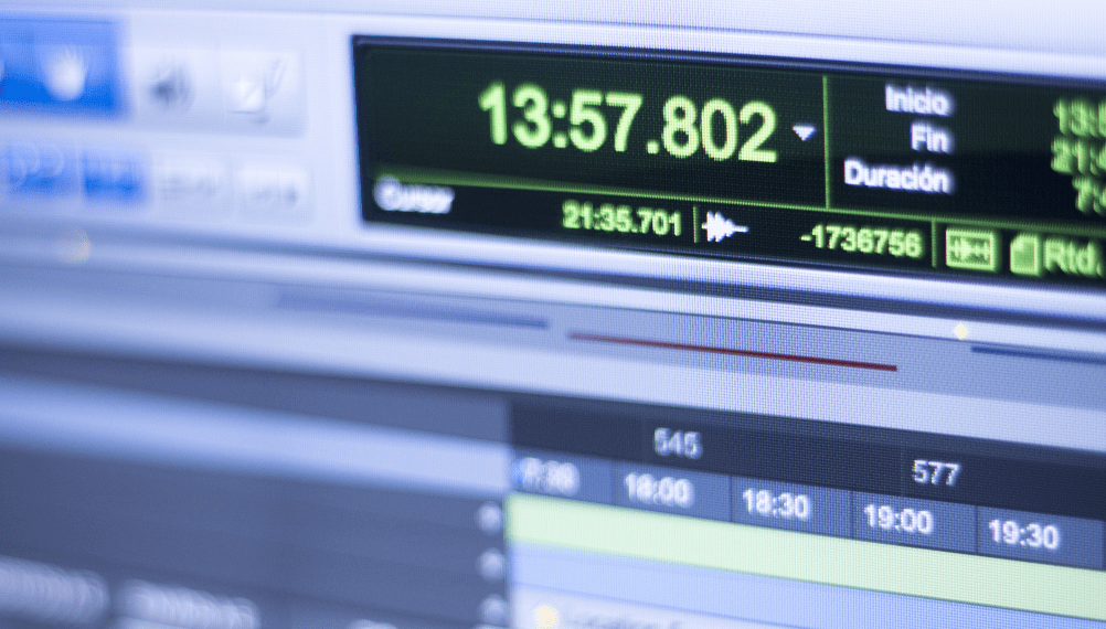 close up of a timer on a computer screen